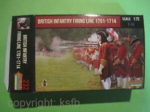 1-72-Strelets-232-Spanien-Erbfolgekrieg-Briten-Infanterie-Feuer-Linie-1701-1714