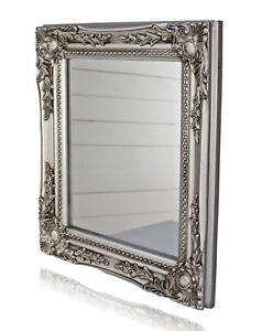 Specchio da parete Barocco Argento Antico Legno Casa Di Campagna ...