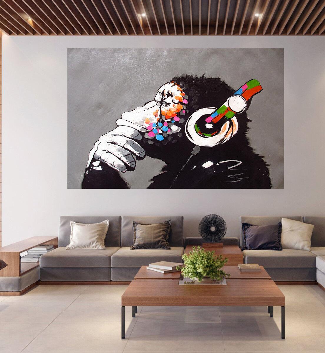 A0 A1 A2 A3  poster print Australia street art Monkey Ape Dj painting