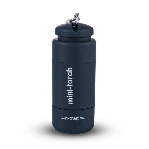 USB Rechargeable LED Light Flashlight Lamp Keychain Mini Torch Waterproof CN