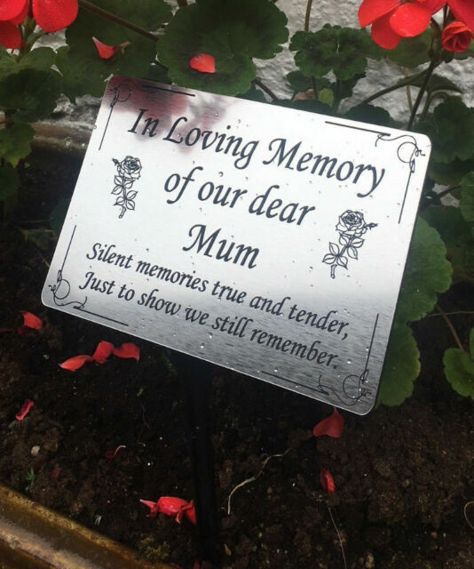Personalised Red Plastic Grave Spike Cemetery Marker