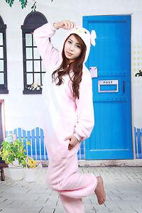 Pigiama per corallo Sleepwear Velluto Hello Costume Tutina adulti cosplay Kitty Animal AaPqp