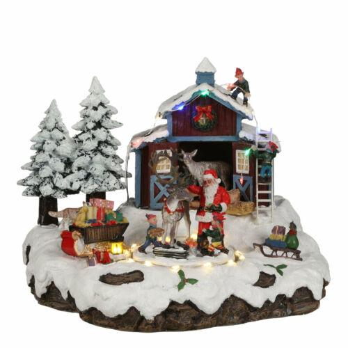Weihnachtsdorf Weihnachtsdekoration LUVILLE Village Santa With Deer