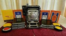 Vintage 1949 Graflex Crown Graphic Camera Kodak Ektar f4.5 152 MM Lens