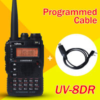 New UV-8DR Dual-Band VHF/UHF Amateur Radio Transceiver + One Programming Cable