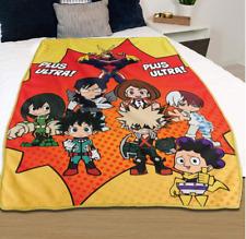 *Legit* My Hero Academia Deku Bakugou Group Authentic Anime Throw Blanket #57886