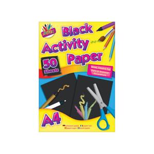 5099 Art Box BLACK A4 Pad Children Craft Paper Creative Fun