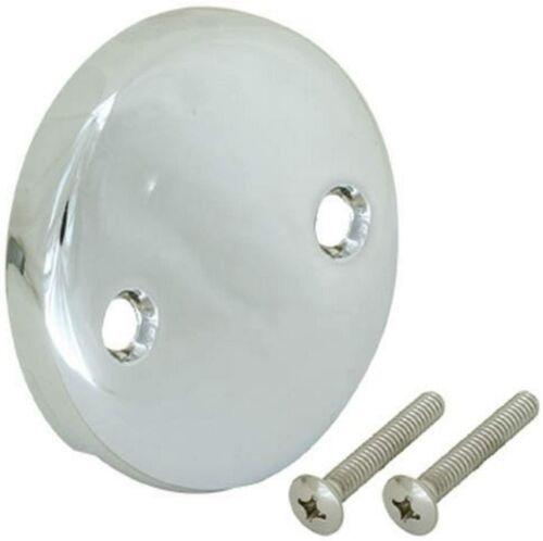 Chrome Ez-Flo 35245 Overflow Face Plate Two-Hole