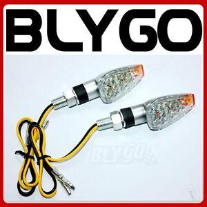 Silver-12V-LED-REC-REG-Indicator-Turn-Signal-Light-PIT-Dirt-Motorcycle-Bike-MX