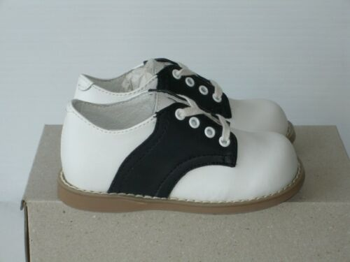 Black and White Willits Chris saddle shoe children//toddler sizes 10-12 widths