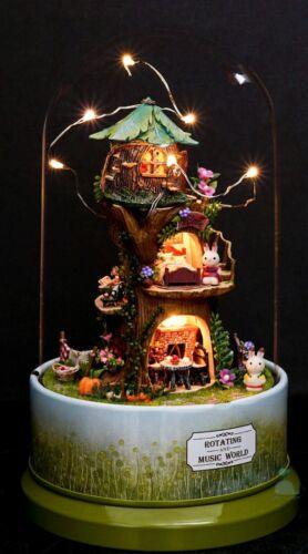 Hágalo usted mismo Artesanía Miniatura Casa De Muñecas serie mundial de música Giratorio STARGAZER Lodge