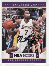 RAMON SESSIONS LOS ANGELES LAKERS AUTOGRAPHED BASKETBALL CARD