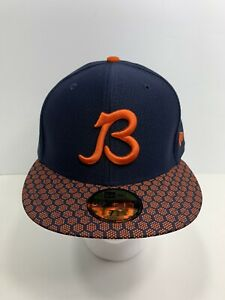 New-Era-59FIFTY-Blue-Orange-7-5-8-Retro-Logo-Chicago-Bears-Flat-Bill-Cap-NEW