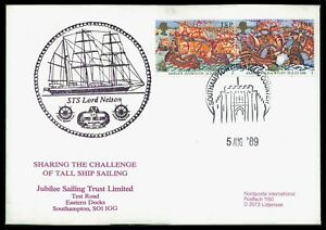 Gb Uk Cover 1989 Voile Sts Lord Nelson Navires Combien Ship Armada Plymouth Ca80-afficher Le Titre D'origine
