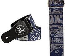 Printed designer Jeans Design pattern Guitar Strap DENIM BLUE 3063 hiphop urban