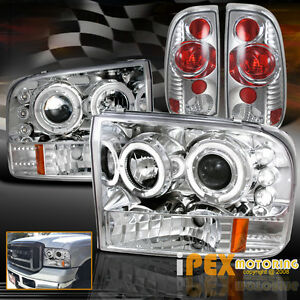 1999-2004 ford f250/f350 [super-duty] halo led projector ... 1979 ford f 150 tail light wiring diagram 2004 ford f 350 tail light wiring