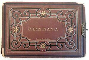 Christiania-Oslo-Norway-c-1880-rare-souvenir-photo-album-12-mounted-albumens