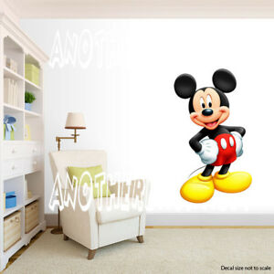 Image Is Loading Mickey Mouse Room Decor Wall Decal Removable Sticker