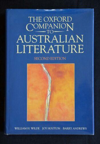 1 of 1 - Wilde - The Oxford Companion to Australian Literature HC/DJ Second Edition