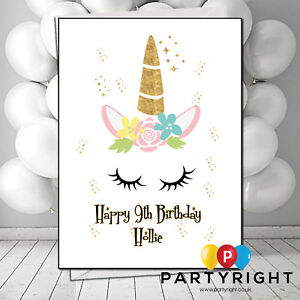 Swell Personalised Handmade Unicorn Child Adults Kids Any Age Birthday Funny Birthday Cards Online Fluifree Goldxyz