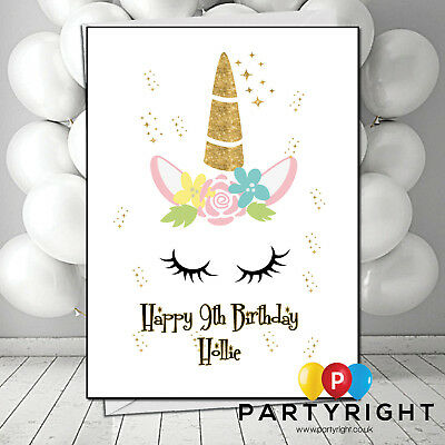 Personalised Handmade Unicorn Lamb Child Adults Kids Easter Card