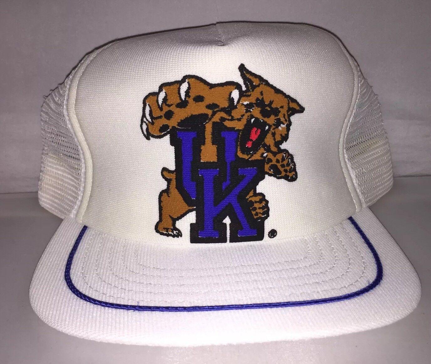 Vtg Kentucky Wildcats mesh 80s Snapback hat cap rare 80s mesh NCAA College rondo calipari ef43be