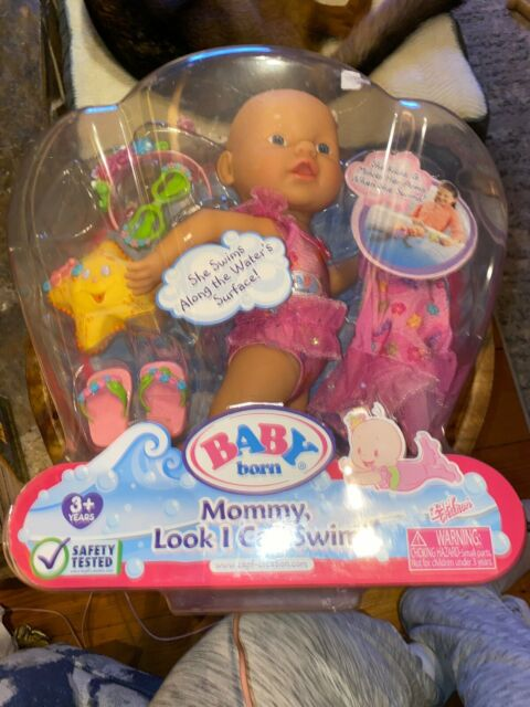 New Zapf Creations Baby Born Girl Mommy Look I Can Swim