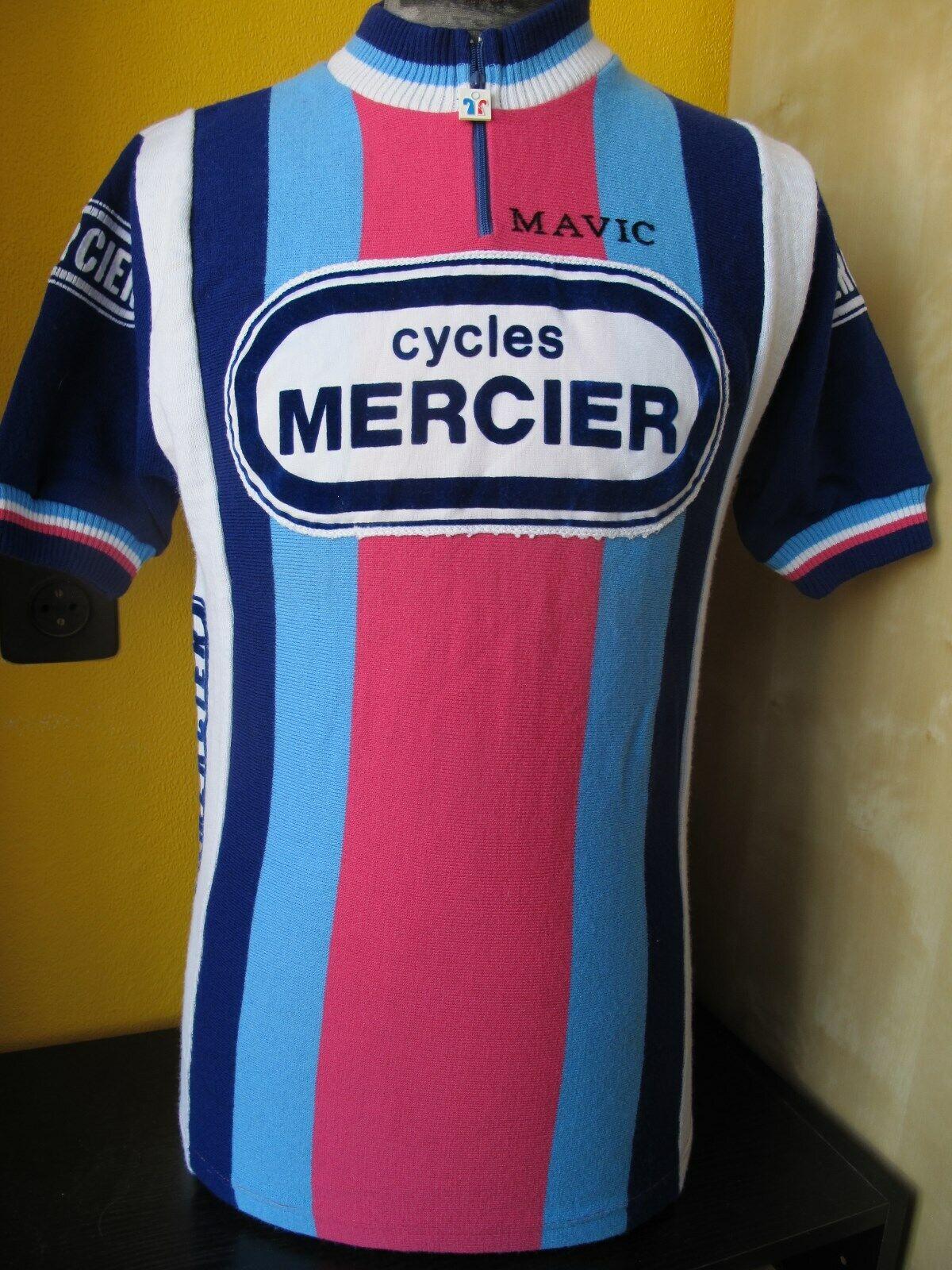 MERCIER MAVIC MIKO Cycling Jersey GENUINE VINTAGE Size 3 - MEDIUM
