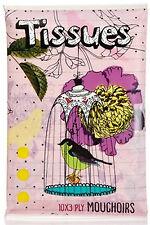 Vintage BIRDCAGE Vintage Pocket Tissues / Papier TASCHENTÜCHER