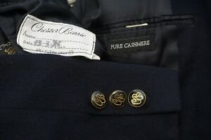 Chester Barrie Castleton Rgcy PURE CASHMERE Navy Blue Sport Coat Blazer Sz 50R