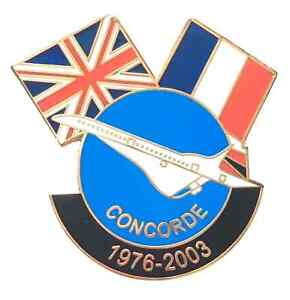 Gran-Bretana-amp-France-Concorde-Conmemorativa-Amistad-Bandera-Pin-Insignia