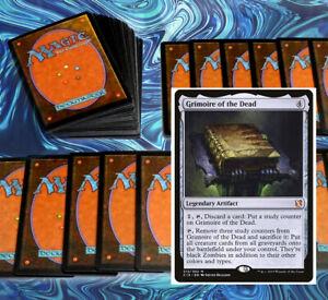 mtg-BLACK-GRIMOIRE-GRAVEYARD-DECK-Magic-the-Gathering-rares-60-cards-bone-dragon
