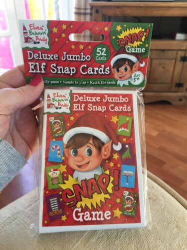 Elves Behavin/' Badly Deluxe Jumbo Elf Snap Playing Cards Game