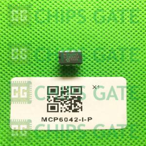 5PCS-MCP6042-I-P-IC-OPAMP-GP-14-kHz-RRO-8DIP-Microchip