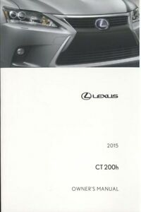 2015 lexus ct 200h owners manual user guide reference operator book rh ebay co uk 2013 ct200h owners manual 2012 ct200h owners manual