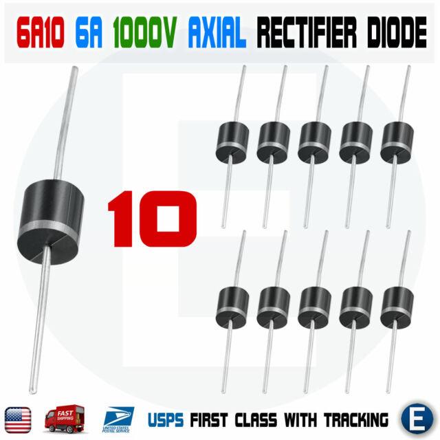 HUABAN 20PCS 6A4 Rectifier Diode 6A 400V R-6 Axial 6 Amp 400 Volt