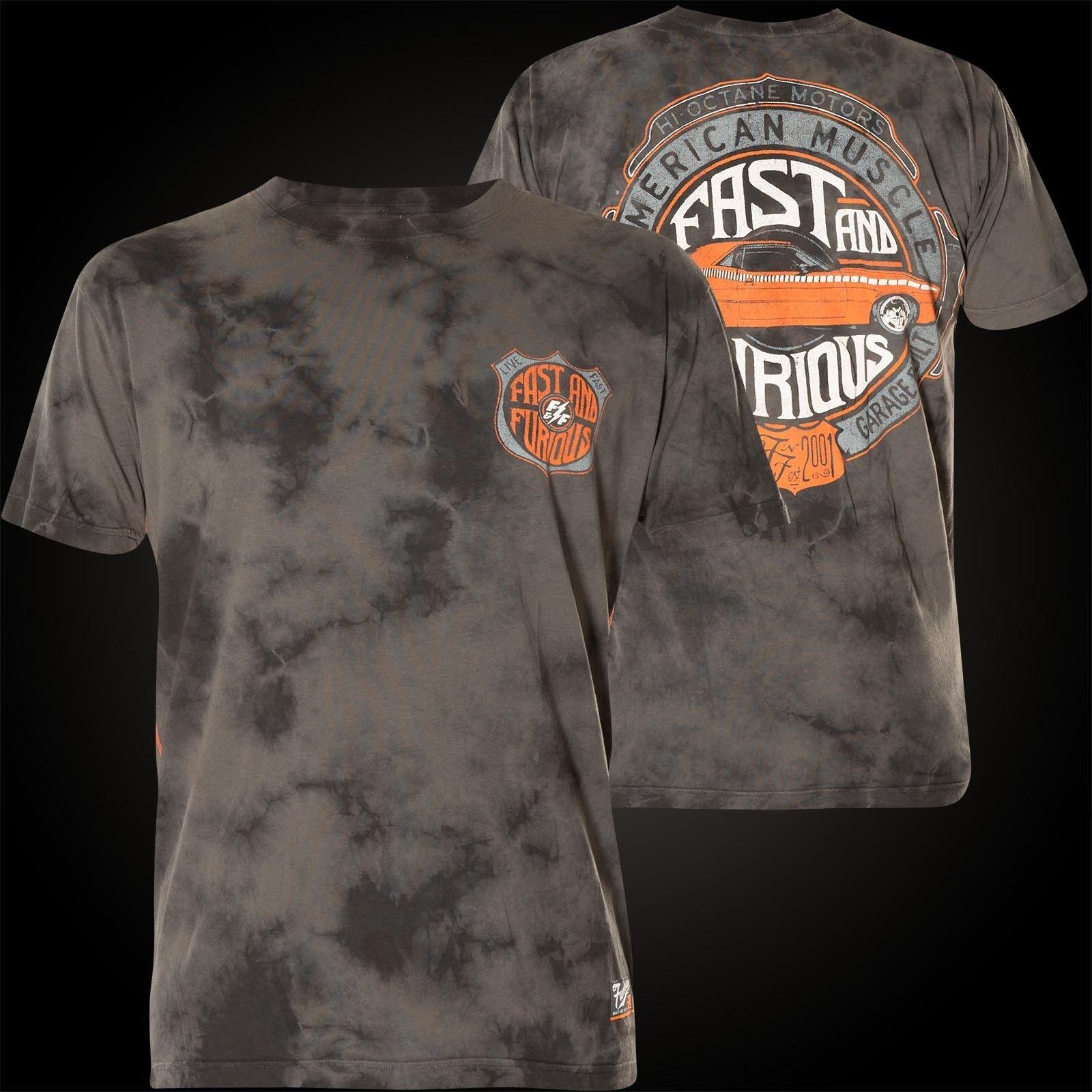 Affliction Fast & Furious T-Shirt Stagin Lane Dark Grey