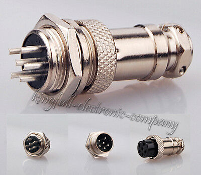 New M16 16mm 6 Pin Screw Type Electrical Aviation Plug Socket Connector