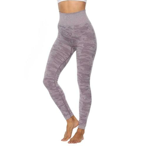 Women Leggings Camouflage Seamless Hip Lifting Sports Fitness Pencil Pants XD#3