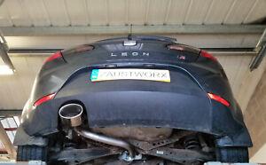 SEAT-Leon-FR-Mk2-2-0TDi-Trasero-Silenciador-eliminar-Pipe-6x4-Oval