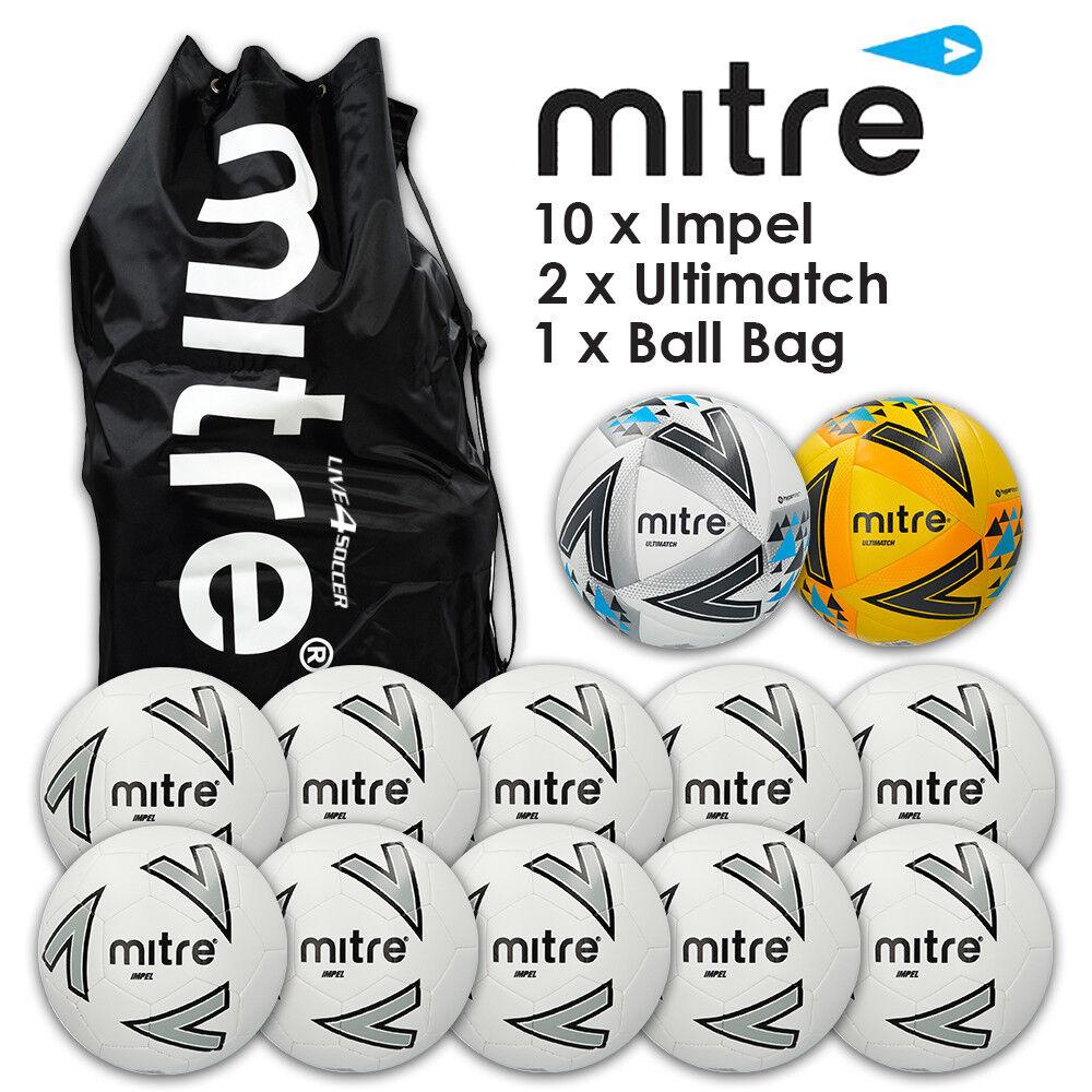 Mitre Impel Weiß Matchday Ball Deal  - New 2018 Design
