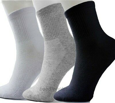 5Pairs Men Women Winter Casual Sock Cosy Soft Cotton Blend Sport Socks Elastic^^