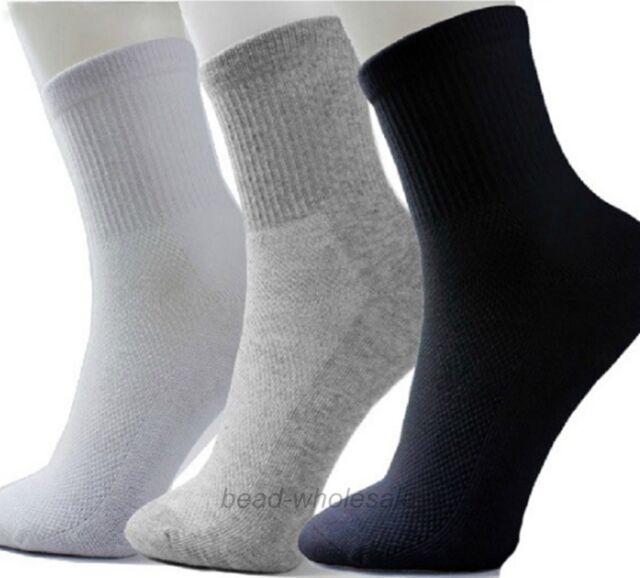 5 Pairs Men Women Winter Casual Sock Cosy Soft Cotton Blend Sport Socks Elastic