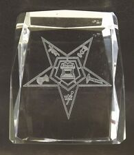"New Order Of The Eastern Star 4"" Crystal Paperweight Collectible"