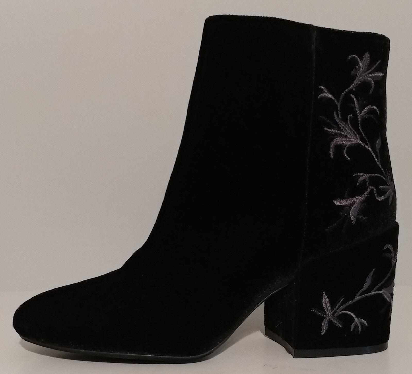 NEW!! Kenneth Cole Black Velvet Ankle Boots 3