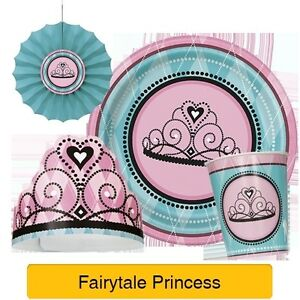 FAIRYTALE PRINCESS Birthday Party Range Tableware Balloons /& Decorations