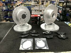 BMW-F30-312MM-300mm-BRAKE-DISCS-DRILLED-GROOVED-BREMBO-PADS-FRONT-REAR