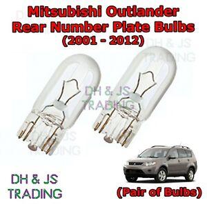 01-12 Mitsubishi Outlander Rear Number Plate Bulbs Reg Plate Bulb Light Lights