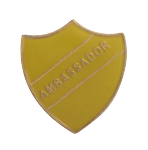 Ambassador Yellow Pin Badge For Schools