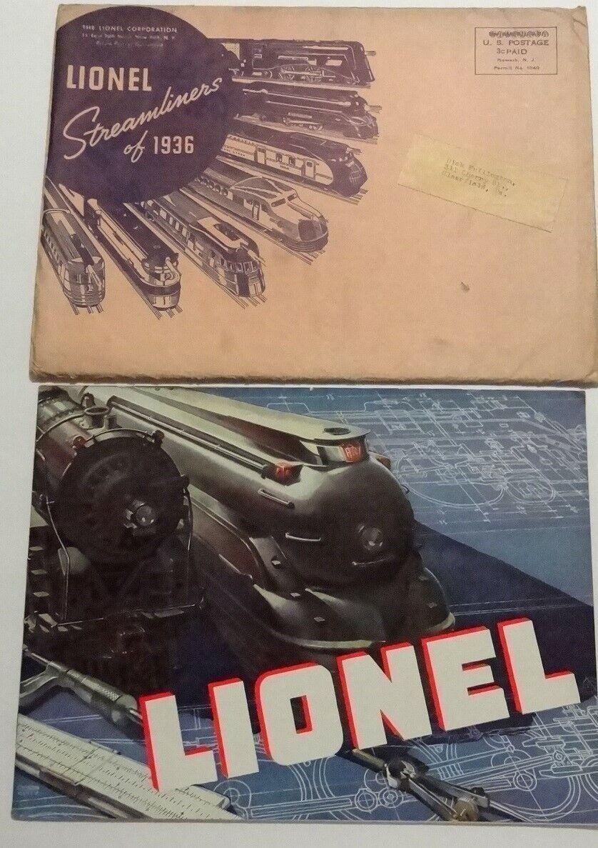 1936 Original Lionel Catalog w  Mailing Envelope Excellent Cond.